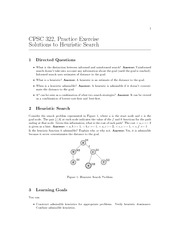 CPSC 322 Fall 2010 Excercise Worksheet 2 Solutions