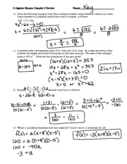 Review - Chapter 2 (Solutions)