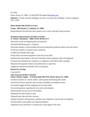 Lisa Hurt resume