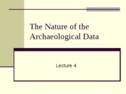 Lecture 04 Nature of Arch Record