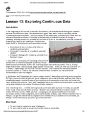 STAT414_Lesson 13_Expoloring continuous data