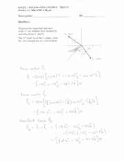 Statics Term Test 1 - Oct 2006