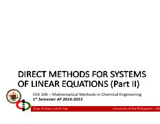 Lecture 05 - Direct Methods for Systems of LE Part II.pdf