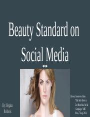 Beauty Standard on  Social Media