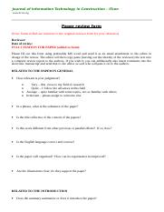 ITcon Review Form - For Use As Your Review Template Document.doc
