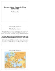 Europe In Crisis Notes