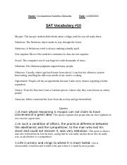 SAT Vocabulary #10