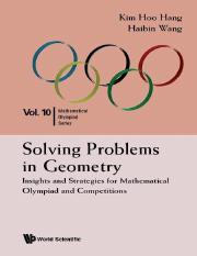 Hang K.H., Wang H. - Solving problems in geometry_ Insights and strategies for mathematical olympiad