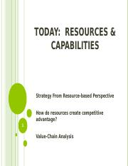 Resources Capabilities