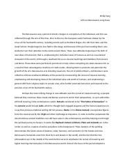 humanities n a ap european history and literature culver 3 pages ap euro renaissance essay