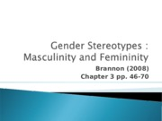 Class #3. Gender stereotypes