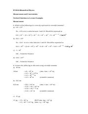 Lecture 1- Measurement Solutions