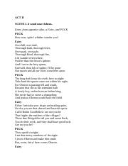 11 Pages Midsummers ACT II
