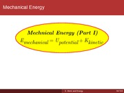 Lecture05. Work and Energy Part II