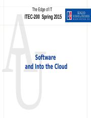 Sofware and the Cloud ITEC 200-006 Notes.pptx