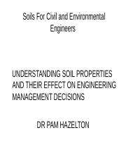 Soils for CIVIL AND ENVIRONMENTAL ENGINEERING
