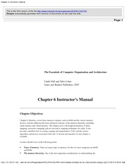 Chapter 6 Instructor's Manual