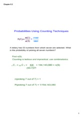 Probability using Counting