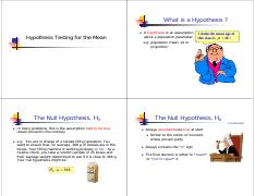 08  Hypothesis Testing of One Mean copy