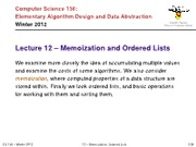 CS136_12-memoization_ordered_lists_trees