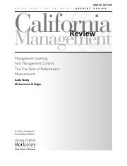 Management Learning not Management Control The True Role of Performance Measurement.pdf