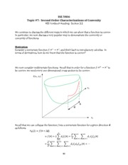 Topic 7 - Second order characterization of convexity