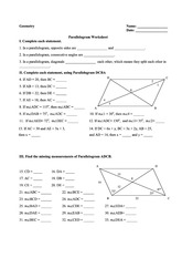 high school geometry parallelogram worksheets high best free printable worksheets. Black Bedroom Furniture Sets. Home Design Ideas