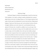 Free electoral college Essays and Papers