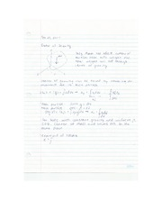 Eng Sci Statics - Center of Gravity Lecture Notes