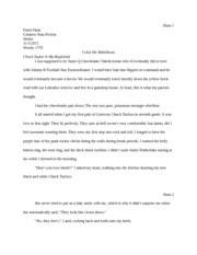 Eng 327 creative non fiction workshop isu page 1 course