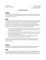 Seven Eleven Case Analysis   REPORT ON Case Study Seven     Most Popular Documents for ACCOUNTING