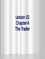 L-2-The Trader.ppt