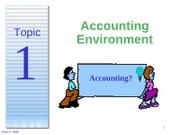 Topic1 Accounting Environment
