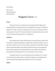 Magnetic force lab1