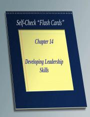 Self_Check_Chapter_14_Developing_Leadership_Skills.ppt