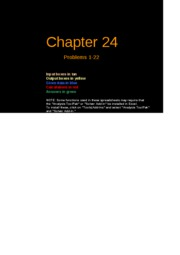 FCF 9th edition Chapter 24