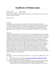 CH 22 - Synthesis of Benzocaine Report
