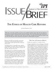 Matthews - The ethics of healthcare reform