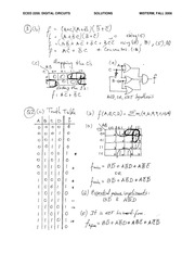 ECE 2200 Fall 2006 Midterm Exam Solutions