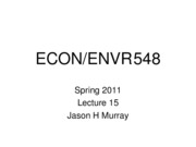 ECON 548 Spring 2011 Lecture15