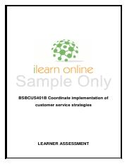 BSBCUS401B+-+Learner+Assessment+Sample