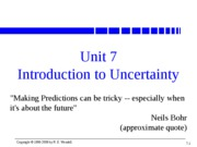 Unit 07 Intro to Uncertainty