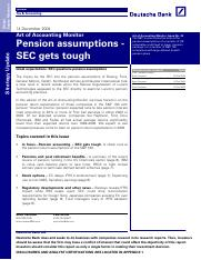 Pension Assumptions - SEC gets tough