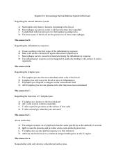 Chapter 31 Immunology Animal Defense Systems Mini Exam.docx