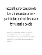 Factors that may contribute to loss of independence.pptx