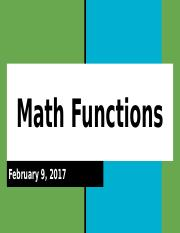 Lesson 2 - Math Functions.pptx