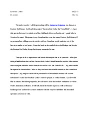 easter red cedar essay