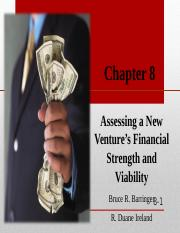 CHAPTER 8 ASSESING A NEW VENTURE'S FINANCIAL STRENGTH AND VIABILITY.ppt