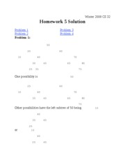 CS 32 Solution Homework 5