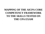 Acc 260 Mapping of CCF to Skills Tested on the CPA Exam